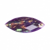 Resin Sew-on Dichroic Style 10pcs 12x30mm Navette Purple